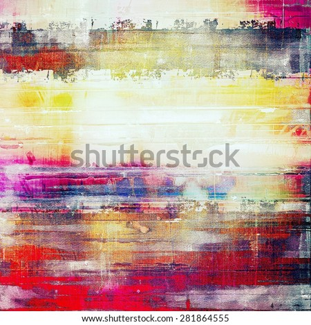 Old and weathered grunge texture. With different color patterns: yellow (beige); red (orange); blue; pink - stock photo