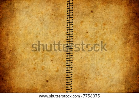old and worn book with grunge texture - stock photo