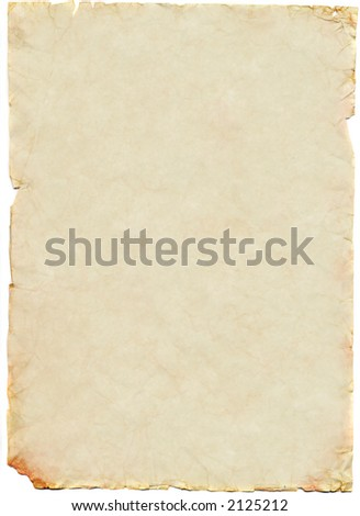 Old and worn sheet of paper - stock photo