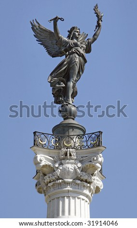 Old angel statue - bordeaux - france - stock photo