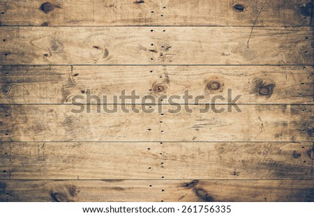 old ans dirty wood plank wall with scratches for decoration and background - stock photo