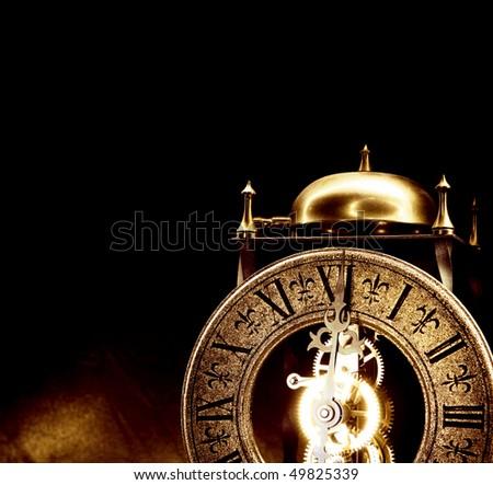 Old antique clock. - stock photo