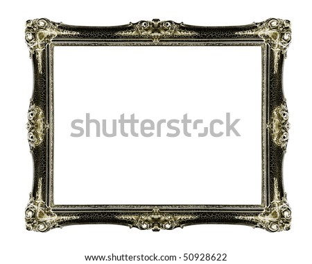 old antique  frame - stock photo