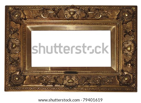 old antique frame , color photo - stock photo