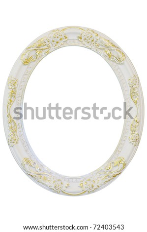 old antique frame isolated on white - stock photo