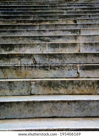 old antique stairs as background - stock photo