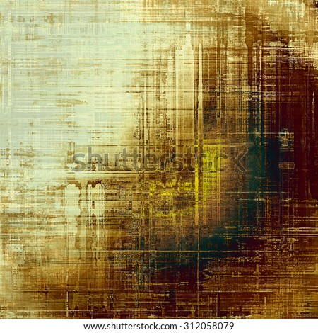 Old antique texture (for background). With different color patterns: yellow (beige); brown; green; gray - stock photo