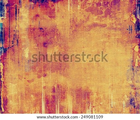 Old antique texture (for background). With different color patterns: yellow (beige); brown; purple (violet); red (orange); pink - stock photo