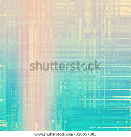 Old antique texture or background. With different color patterns: yellow (beige); pink; blue; cyan - stock photo