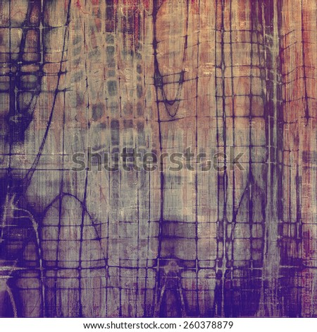 Old antique texture - perfect background with space for your text or image. With different color patterns: brown; gray; purple (violet) - stock photo