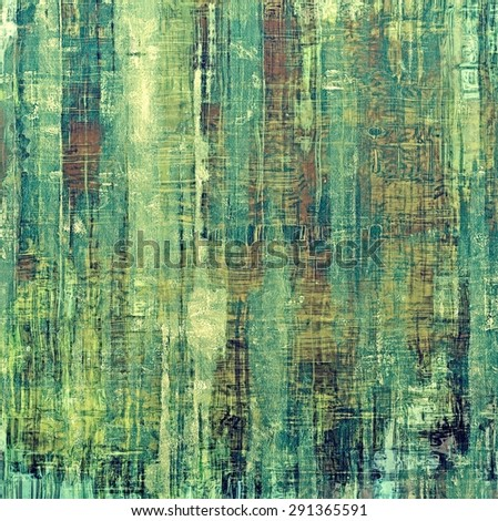 Old antique texture - perfect background with space for your text or image. With different color patterns: yellow (beige); brown; blue; green - stock photo