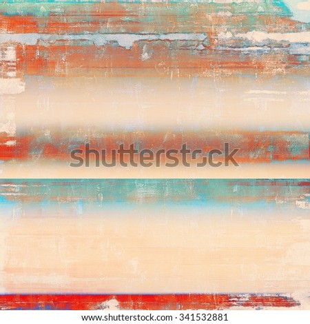 Old antique texture - perfect background with space for your text or image. With different color patterns: yellow (beige); brown; blue; red (orange) - stock photo