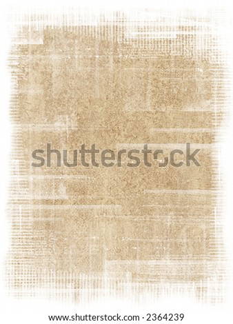 Old antique texture with grunge frame - stock photo