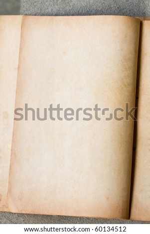 old antique vintage paper on stone background - stock photo