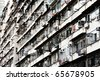 Old apartments in Hong Kong . - stock photo
