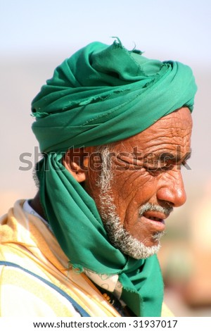 old arabian bedouin - stock photo
