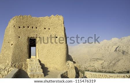 Old Arabian Fort in Ras al Khaimah United Arab Emirates - stock photo
