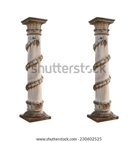 old architecture Column isolated. - stock photo