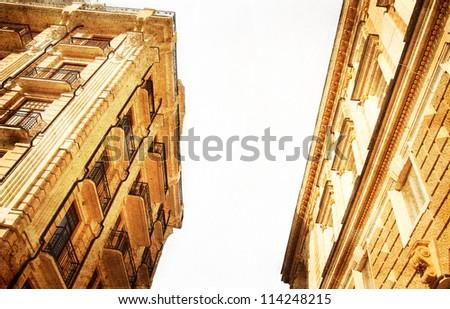 old architecture grunge style - stock photo