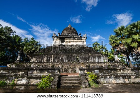 Old Architecture In Ancient Buddhist Temple Luang Prabang Laos Southeast Asia The