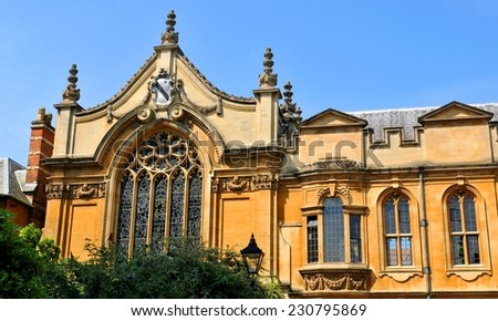 Old architecture in Oxford, Oxfordshire, England.  - stock photo