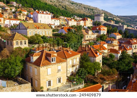 old architecture of Dubrovnik. Croatia. - stock photo