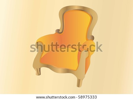 old armchair - stock photo