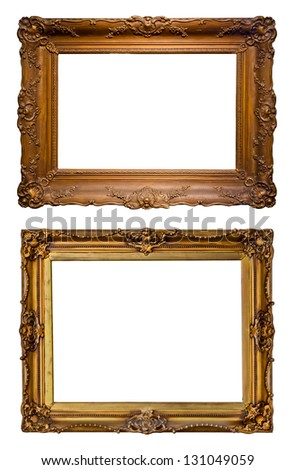 Old art frames - stock photo