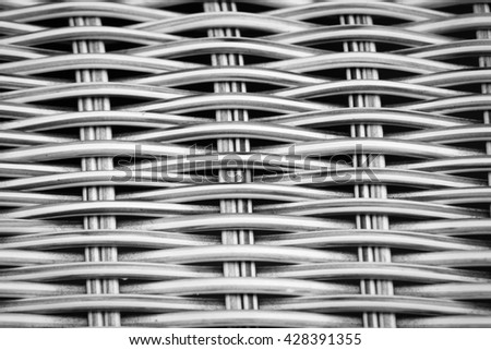 Old Artificial rattan weave pattern background