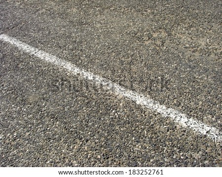 old asphalt road with median strip                                - stock photo
