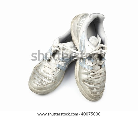 old athletic shoes - stock photo
