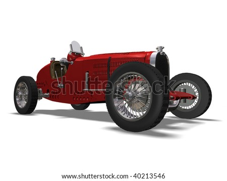 old automobile - stock photo