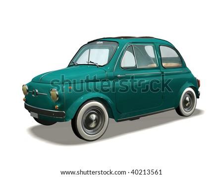 old automobile - stock photo