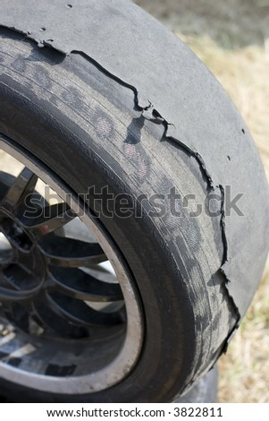 Old automobile wheels - stock photo