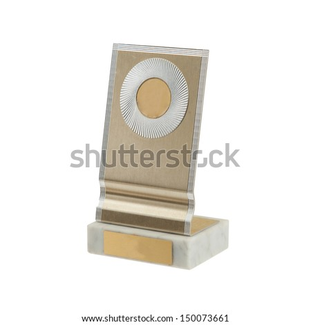 Old award isolated on a white background - stock photo