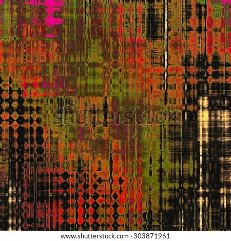 Old background with delicate abstract texture. With different color patterns: brown; purple (violet); red (orange); green; black - stock photo