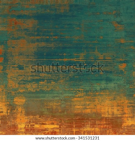 Old background with delicate abstract texture. With different color patterns: yellow (beige); brown; blue; green - stock photo