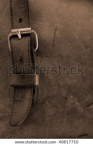 Old bag - detail - stock photo