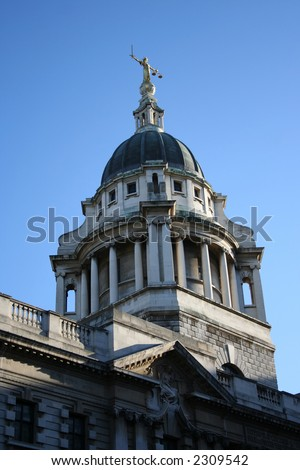 Old Baily criminal court building, London England - stock photo