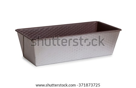 Old baking dish isolated on a white background - stock photo