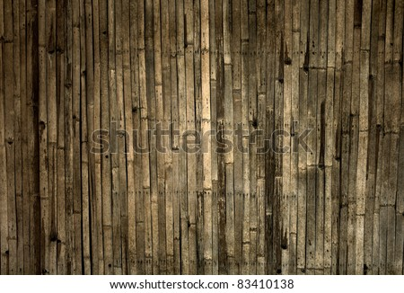 old bamboo background - stock photo