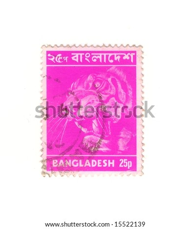 old bangladesh stamp - stock photo