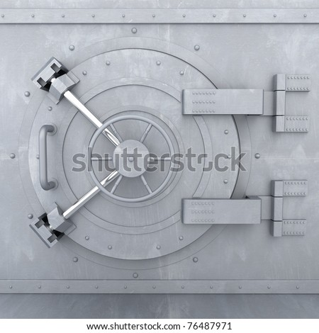 Old Bank Vault - 3d illustration - stock photo