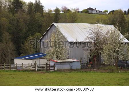 Old barn. - stock photo