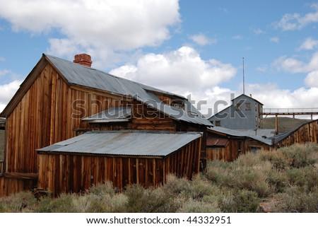 old barn - Bodie, California - stock photo