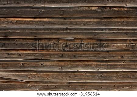 Old barn exterior siding - stock photo