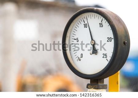 Old barometer. - stock photo