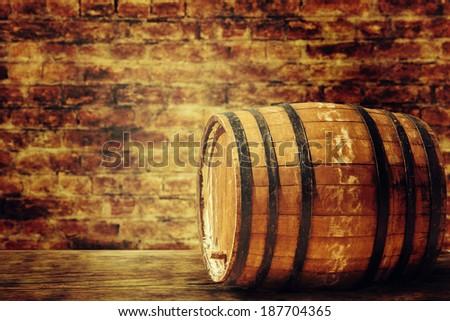 Old barrel - stock photo