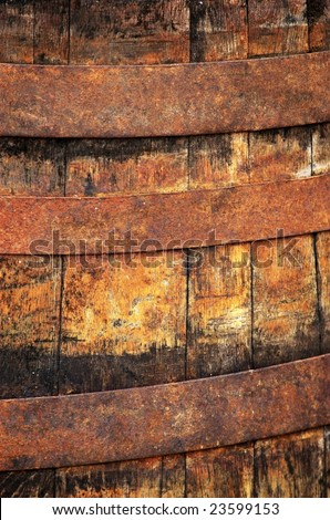 Old barrel close up - stock photo