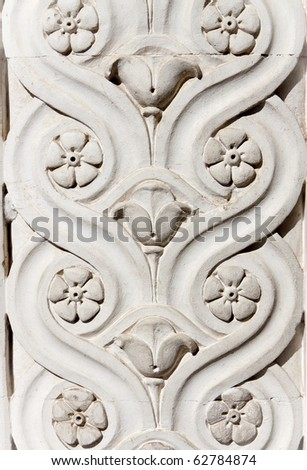old bas-relief - stock photo